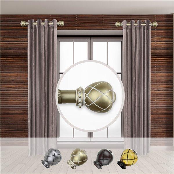 Tringle à rideaux simple en acier or de 11 à 20 po Supreme de Rod Desyne