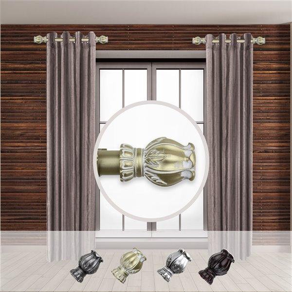 Tringle à rideaux simple en acier or de 11 à 20 po Regent de Rod Desyne