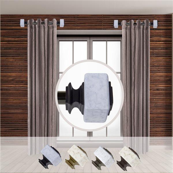 Tringle à rideaux simple en métal noir Estelle de Rod Desyne, 11 po à 20 po