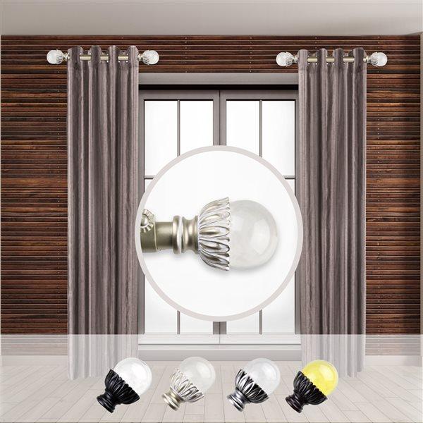 Tringle à rideaux simple en acier or de 11 à 20 po Pixie de Rod Desyne