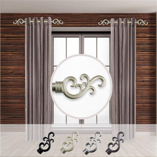 Tringle à rideaux simple en métal doré Madeline de Rod Desyne, 11 po à 20 po