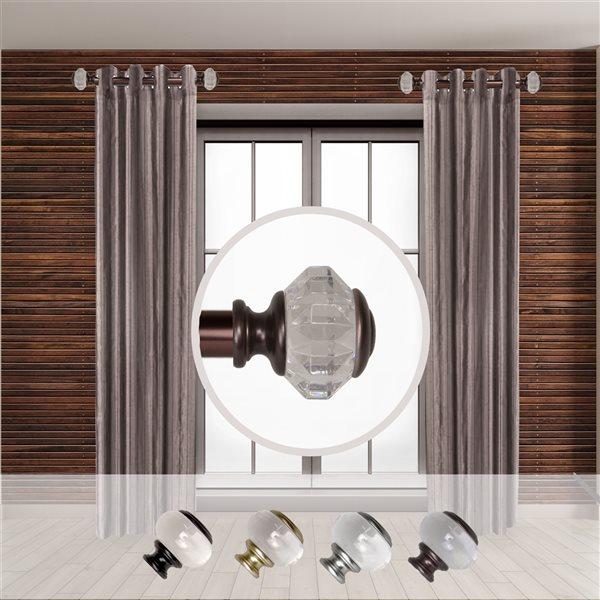 Tringle à rideaux simple en métal bronze Inez de Rod Desyne, 11 po à 20 po