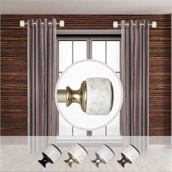 Tringle à rideaux simple en métal doré Morton de Rod Desyne, 11 po à 20 po