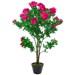 Northlight 48-in Green and Pink Artificial Azalea Flower Tree