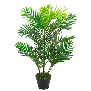 Northlight 40-in Two-Tone Green Artificial Palm Plant
