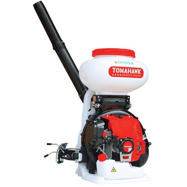 Épandeur motorisé 4 gallons pour engrais granulaire, semences, déglaçant de Tomahawk