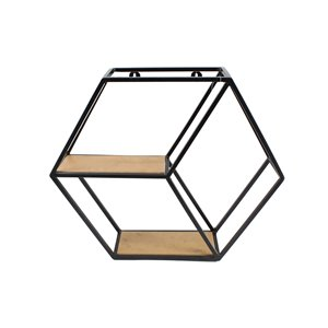 Étagère murale hexagonale 18,5 po 21,65 x 13 po de Nobia