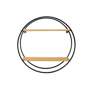 Étagère murale circulaire 24 po x 24 po x 13 po de Nobia