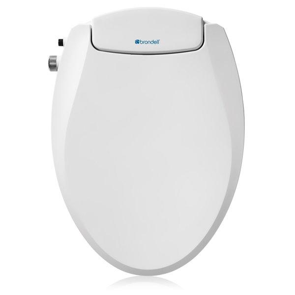 Siège de toilette bidet Swash CANS101 non-électrique blanc allongé à fermeture lente de Brondell