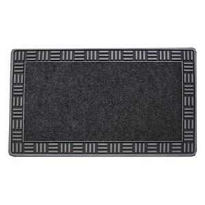 Floor Choice 18-in x 30-in Silver Rectangular/Indoor Door Mat