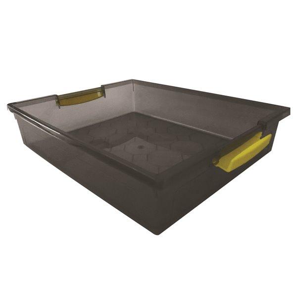 Bac de rangement avec couvercle à ressort Mh de Modern Homes, 1,9 L, gris