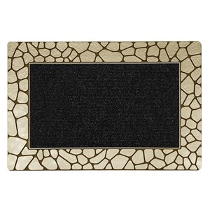 Floor Choice 18-in x 30-in Bronze Rectangular Indoor Door Mat