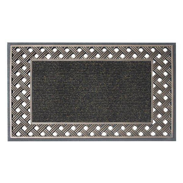 Tapis d'accueil intérieur rectangulaire de Floor Choice, 18 po x 30 po, bronze