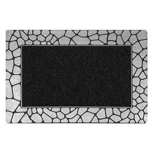 Floor Choice 18-in x 30-in Silver Rectangular Indoor Door Mat