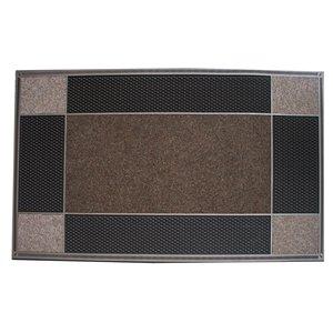 Floor Choice 23-in x 46-in Brown Indoor Rectangular Door Mat