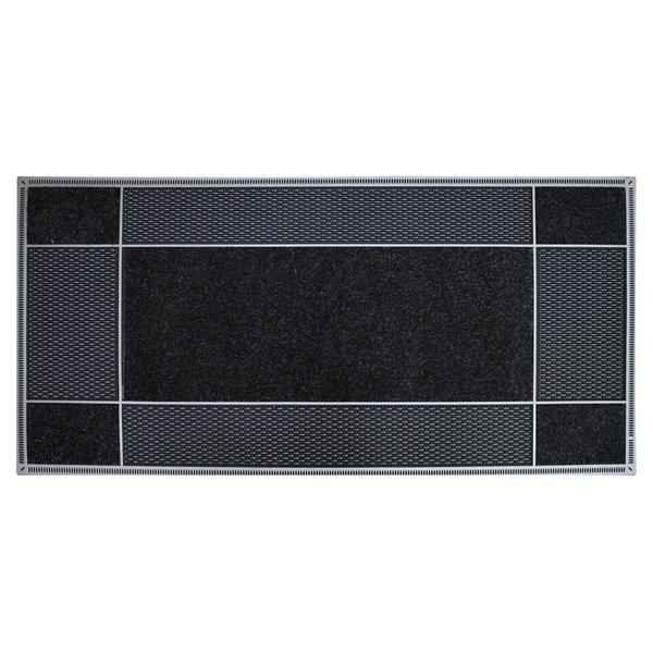 Tapis d'accueil intérieur rectangulaire de Floor Choice, 18 po x 30 po, noir