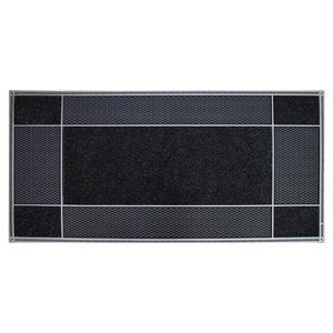 Floor Choice 18-in x 30-in Black Indoor Rectangular Door Mat