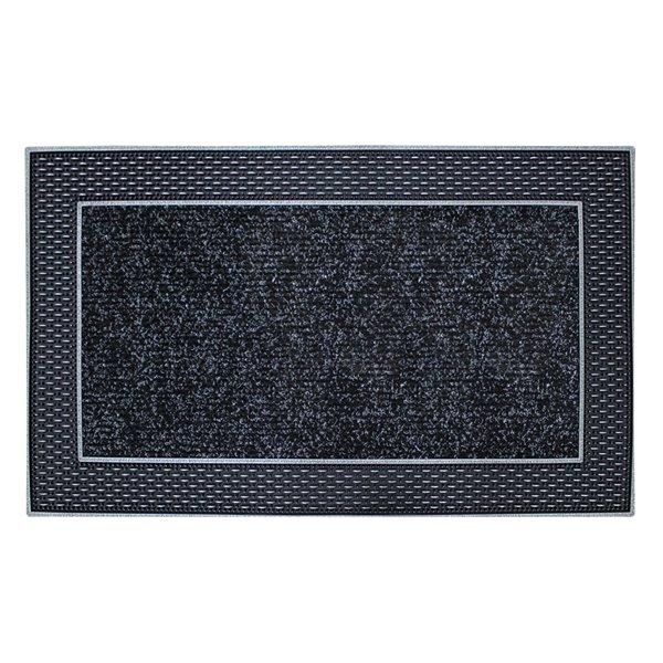 Tapis d'accueil intérieur rectangulaire de Floor Choice, 18 po x 30 po, gris