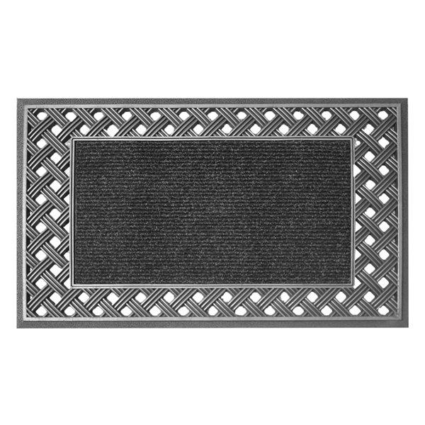 Tapis d'accueil rectangulaire d'intérieur de Floor Choice, 18 po x 30 po, argent