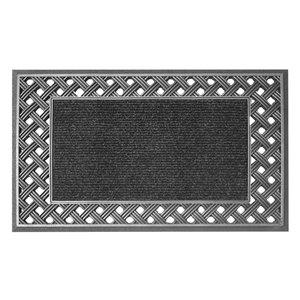 Floor Choice 18-in x 30-in Silver Indoor Rectangular Door Mat