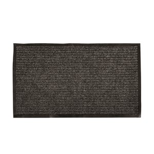 Floor Choice 36-in x 24-in Black OutdoorRectangular Door Mat