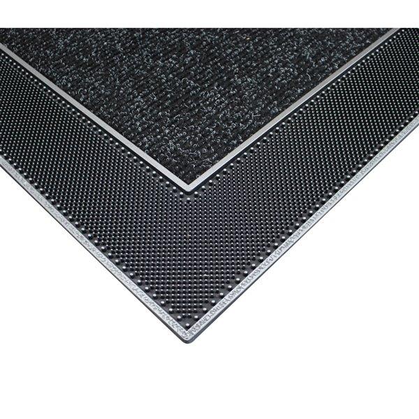 Tapis d'accueil intérieur rectangulaire de Floor Choice, 24 po x 35 po, gris