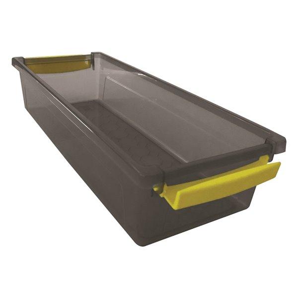 Bac de rangement avec couvercle à ressort Mh de Modern Homes, 1,5 L, gris