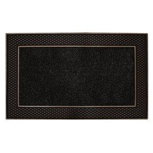 Floor Choice 18-in x 30-in Brown Indoor Rectangular Door Mat