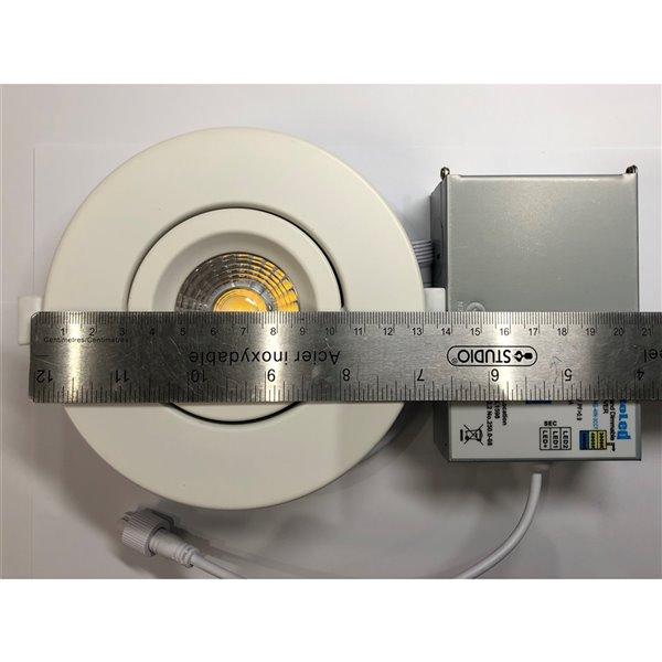 Éclairage encastré rond blanc à intensité variable avec DEL intégrée 4 po équivalent de 60 watts de TorontoLed