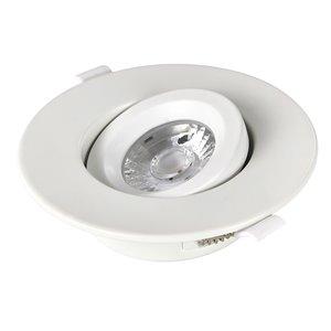 Éclairage encastré à intensité variable rond blanc avec DEL intégrée 4 po équivalent de 60 watts de TorontoLed