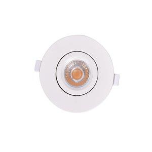 Éclairage encastré rond blanc avec DEL intégrée à intensité variable 4 po équivalent de 60 watts de TorontoLed