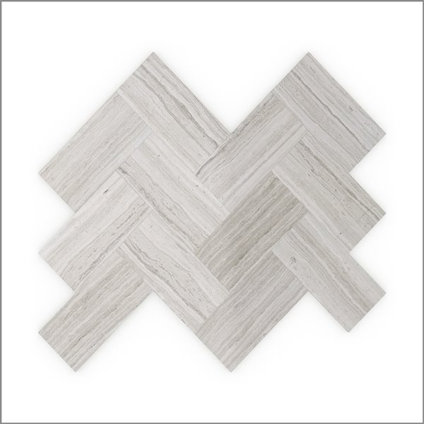 Speed Tiles 3x Faster Sesame 12-in Grey Natural Stone Marble Self-Adhesive Wall Mosaic Tile - 6-Pack
