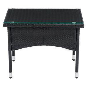 Table d'appoint rectangulaire en rotin Parksville de CorLiving, 23 po x 23 po