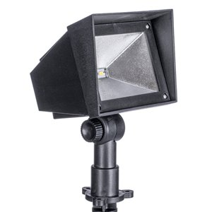Sterno Home 9-lm Black Solar LED Spot Light