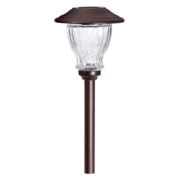 Lumière de sentier solaire bronze DEL 10x plus lumineux de Sterno Home, paquet de 2