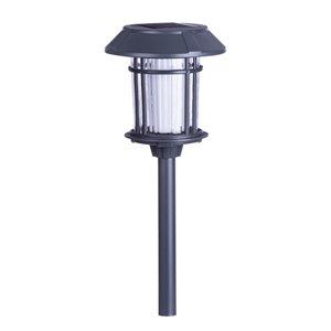 Lumière de sentier solaire DEL grise 24x plus lumineux de Sterno Home, paquet de 4