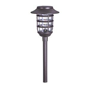 Lumière de sentier solaire DEL bronze 10x plus lumineux par Sterno Home, paquet de 2