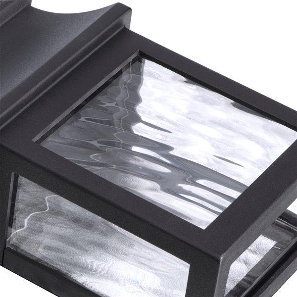 Ensemble d'éclairage mural solaire DEL noir 8x plus lumineux de Sterno Home, ens. de 4