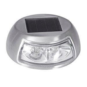 Luminaire pour marche solaire DEL en acier inoxydable 4x plus lumineux de Sterno Home
