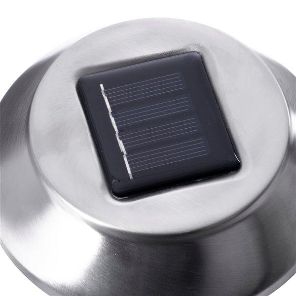 Lumière de sentier solaire DEL en acier inoxydable 4x plus lumineux de Sterno Home, paquet de 6