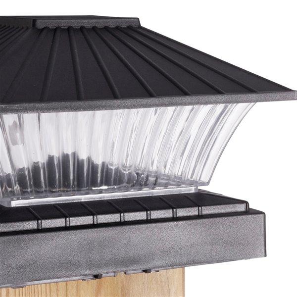 Sterno Home 5x Brighter Black Solar LED Post Cap