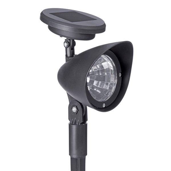 Sterno Home 3-lm Black Solar LED Spot Light