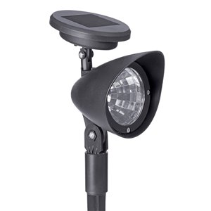 Sterno Home 3-lm Black Solar LED Spot Light