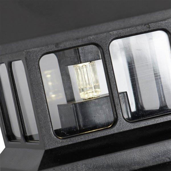 Luminaire de poteau solaire DEL noir standard de Sterno Home