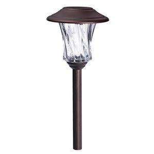 Lumière de sentier solaire DEL bronze 10x plus lumineux de Sterno Home, paquet de 2