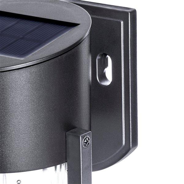 Sterno Home 5x Brighter Black Solar LED Wall Light