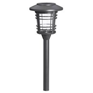 Lumière de sentier solaire DEL grise 12x plus lumineux de Sterno Home, paquet de 6
