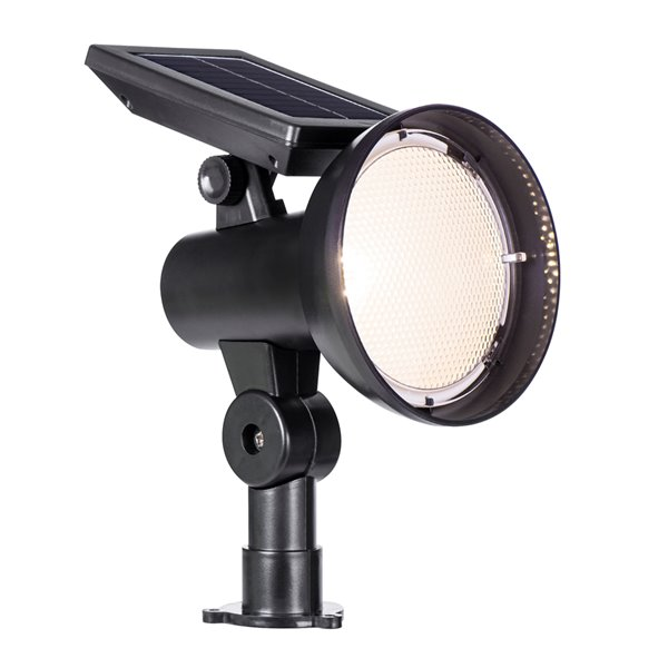 Sterno Home 30-lm Black Solar LED Spot Light