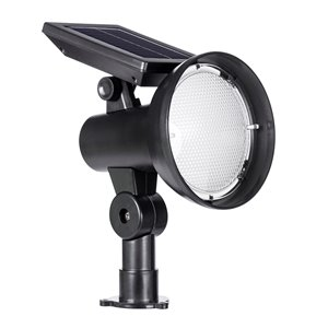 Sterno Home 30-lm Black Solar LED Spot Light