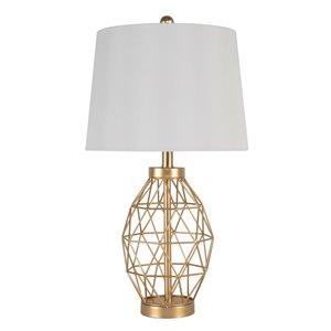 Lampe de table standard de 25,5po avec abat-jour en tissu et interrupteur marche/arrêt par Scott Living, lot de 1, doré